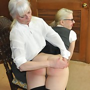 Lecherous lady receives callous spanks on her tail
