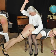 Lecherous lady gets callous spanks on her tail