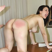 Wanton lass has depraved whips on her tail