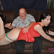 Voluptuous lass gets savage spanks on her posterior