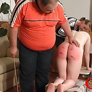 Poor pamper is getting badly spanked with an increment of wounded