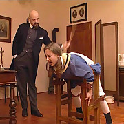 Caning of bad maid