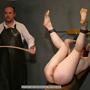 Caning weapon was used on a female ass