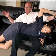 Young sporty hotty gets a severe OTK spanking