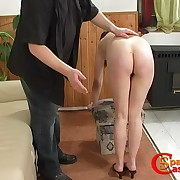 This mature lady is having her bootie punished
