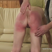 Filthy lass gets grim spanks on her butt