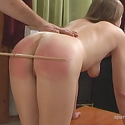 Dissolute soubrette has spiteful whips on her booty