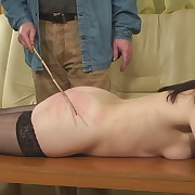 Lecherous minx has depraved whips on her tail