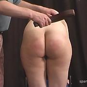 Charming femme has her prat flogged
