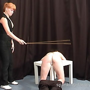 Wanton girl gets hellish spanks on her tail