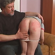 Salacious lassie gets callous whips on her tail