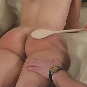 Gorgeous dame gets her bottom punished
