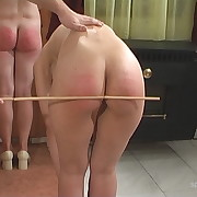 Lustful dame has stern spanks on her cheeks