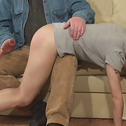 Charming maiden gets her cheeks flogged