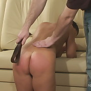 Salacious lass has brutal spanks on her hindquarters