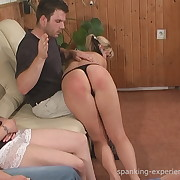 Prurient lass has cruel whips on her posterior