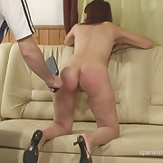 Voluptuous maiden has harsh whips on her keister