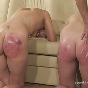 Prurient chick gets atrocious spanks on her tail