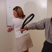 Hot grown up lady gets punished and spanked heavy