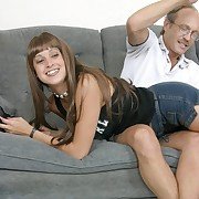 Hot young chick lets a mature guy spank will not hear of tight pain in the neck