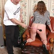Mature chick punished
