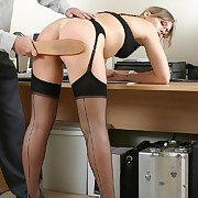 Outcast secretary gets spanked otk