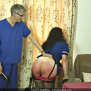 Sinful lass gets depraved spanks on her bankroll b reverse
