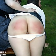 Lustful broad gets hard-nosed whips on the brush posterior