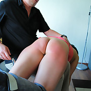 Prurient girl has cruel spanks on her keister