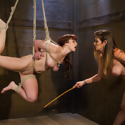 Big Boobs, with respect to botheration submits to tough lesbian dominatrix with spanking