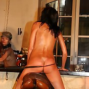 Juicy empty brunette gets awesome bullwhipped in saddle with house waiting upon