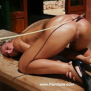 Revolutionary pussy spanking and ass whipping ache shows a hard and erotic discipline