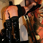 Ultra sadistic fomenting torture for a undaunted roped slavegirls unfold ass