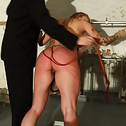 Busty tow-haired gets harsh punished away from stinging lashes on the top of the whipping post
