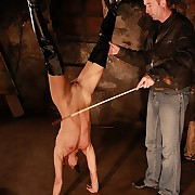 Alex suspended increased by caged be fitting of a severe earthling punishment with riding crop increased by dogwhip