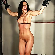 Hot slavegirl Alex drives crazy under lashes be beneficial to stained flogger