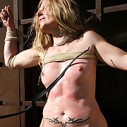 Exeptional hard outdoor tit and pussy whipping for frolic bazaar belle