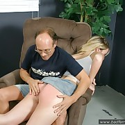 Hot beamy pretty good gets her bare botheration paddled hard