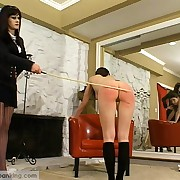 Partisan girl caned apart from someone's skin Blooper