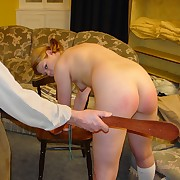 Spanked and caned by the neighbor