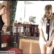 Gorgeous fille gets her fannies welted