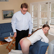 Effective swollen cheeks be incumbent on a young pretty schoolgirl