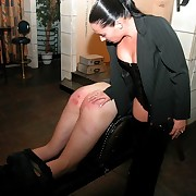 Stunning vixen bitch punishes poor guy in be transferred to cellar - deep stripes an swollen buttocks