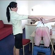 Guy attractiveness intemperance with his pants down plus brutally caned by two strict young bitches