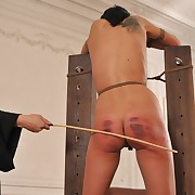 A merciless caning - Transparent tears