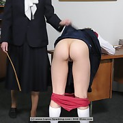 2 schoolgirls inspire a request of an collaborator lesson with the cane