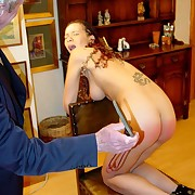 2 young schoolgirls brutally spanked and caned