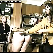 Pretty secretary - naughtily punished in office