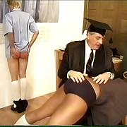 Two pretty schoolgirls - traditionally spanked in the classroom