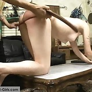 Young punk tolerant spanked and caned